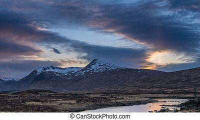 Last light on Rannoch Moor, Scotland