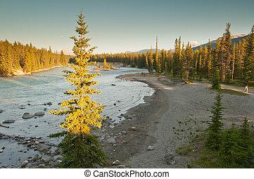 Last light over beautiful landscape