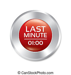 Last minute button. Special offer icon (sticker)
