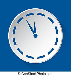 last minute clock - blue icon on white button