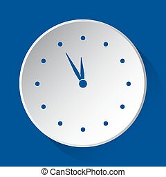 last minute clock - simple blue icon, white button