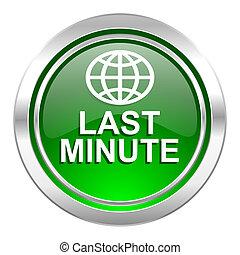 last minute icon, green button