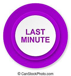 last minute icon, violet button