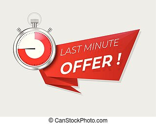 Last minute offer promo . Sale timer  countdown .