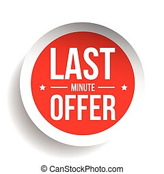 Last Minute Offer Round Label sticker