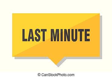 last minute price tag - last minute yellow square price tag