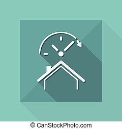Last minute promo - House and hotel - Vector web icon