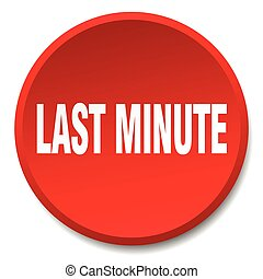last minute red round flat isolated push button