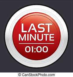 Last minute sale button. Round sticker.