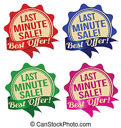 Last minute sale label, sticker or stamps