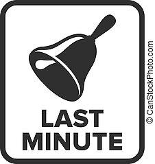 Last Minute symbol - Vector