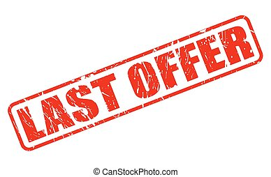 LAST OFFER red stamp text