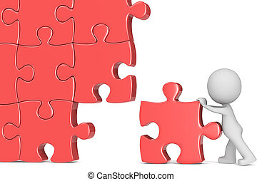 Last piece. - The Dude putting last piece of massive puzzle....