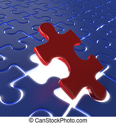 last puzzle piece - fitting the last piece of a puzzle as...