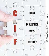 Last puzzle piece with Business Acronym CIF