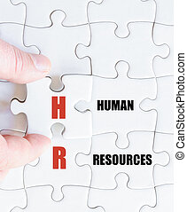 Last puzzle piece with Business Acronym HR