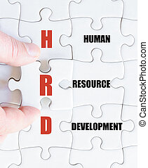 Last puzzle piece with Business Acronym HRD