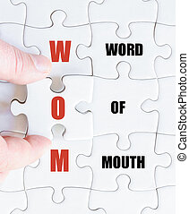 Last puzzle piece with Business Acronym WOM