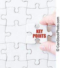 Last puzzle piece with words KEY POINTS - Last puzzle piece...