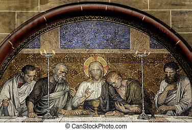 Last Supper of Christ - This photograph represent an mosaic...