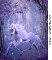 last unicorn - 3d render of an unicorn