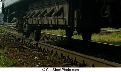 Last wagon. - Train goes to the depot. Last wagon.