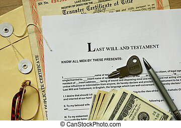 Last Will And Testament - last will and testament with...