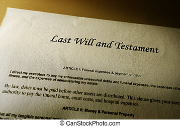 Last will - Last Will and Testament document