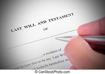 Last Will - Last will and testment ready to be signed
