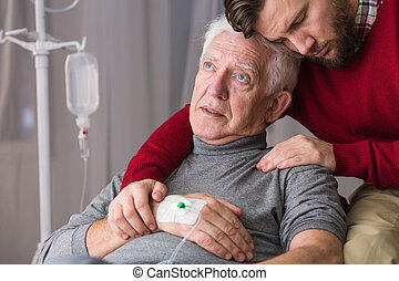 Image of last will of ill dying senior man