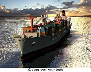 lastbåt, frakt