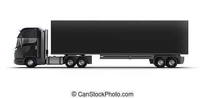 lastbil, behållare, isolerat
