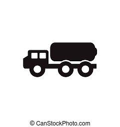 lastbil, cistern, illustration