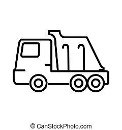 lastbil, design, dumpa, illustration