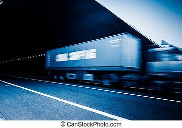 lastbil, fortkörning