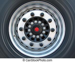 lastbil, hjul