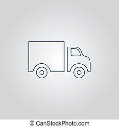 lastbil, ikon