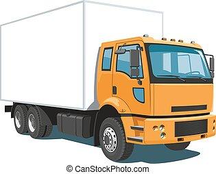 lastbil, kommersiell