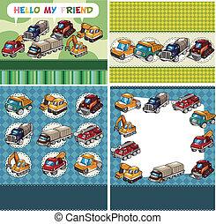 lastbil, kort