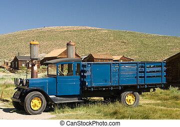 lastbil, lantgård