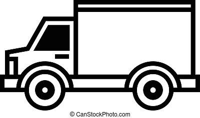 lastbil, leverans