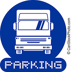 lastbil, parkering