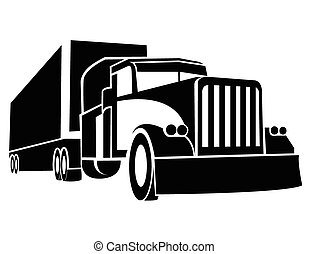 lastbil, symbol