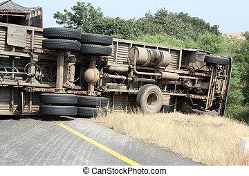 lastbil, ulykke
