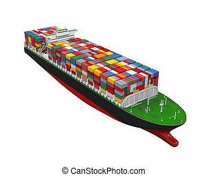 lastfartyg, behållare, isolerat