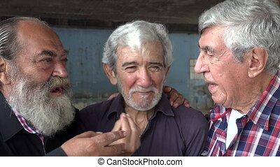 Lasting Friendship Between Old Men