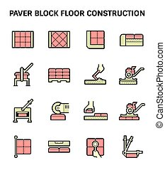 lastricatore, blocco, pavimento