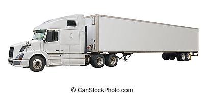 lastwagen, freigestellt