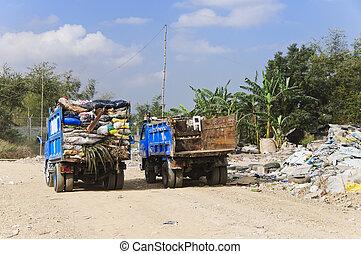lastwagen, muell