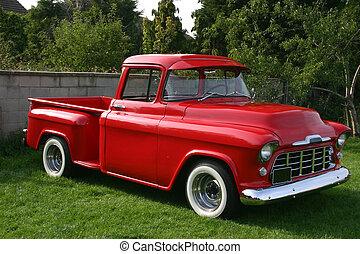 lastwagen, rotes